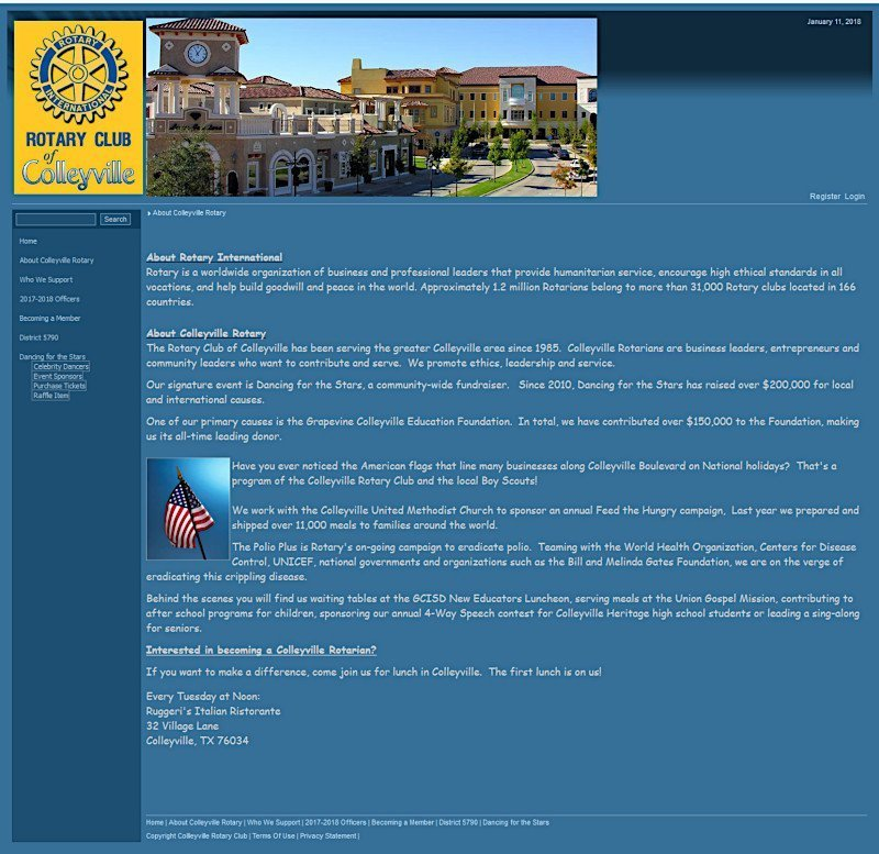 Colleyville Rotary – Original Website